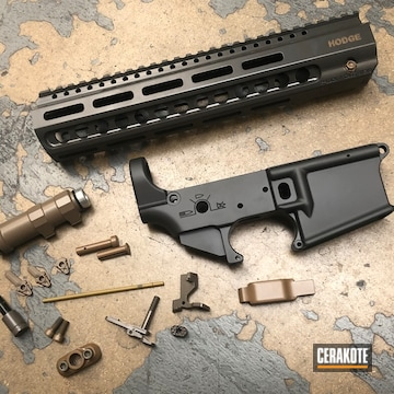 Ar Builders Set And Components Cerakoted Using Smoke, Earth And M17 Coyote Tan