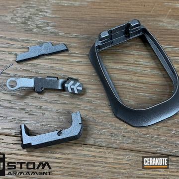 Pistol Parts Cerakoted Using Tactical Grey