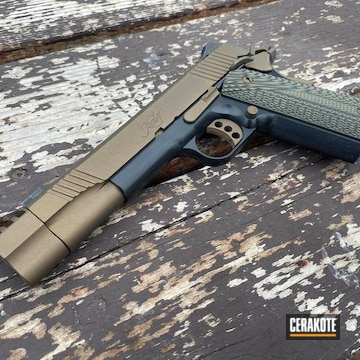 Kimber 1911 Cerakoted Using Burnt Bronze And Blackout