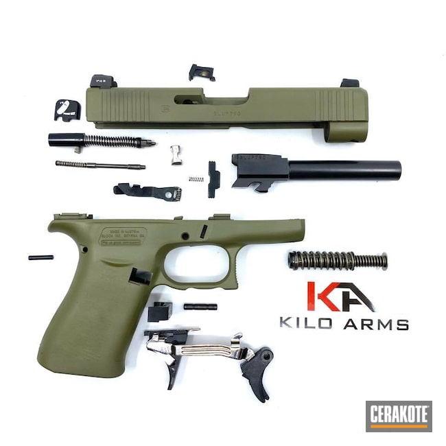 Cerakoted: Glock 48,S.H.O.T,9mm,Pistol,Glock,Noveske Bazooka Green H-189,Handgun