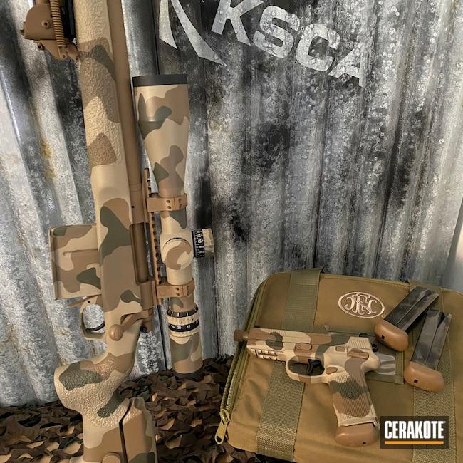 Cerakoted: Bolt Action Rifle,Custom Rifle,Woodland Camo,TROY® COYOTE TAN H-268,Desert Sand H-199,.300 Winchester Magnum,MAGPUL® FDE C-267,O.D. Green H-236,Long Range Rifle,Custom Camo,MULTICAM® DARK GREEN H-341
