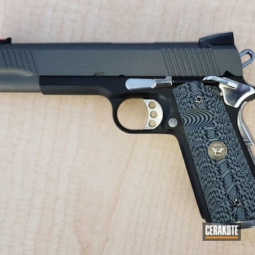 Kimber 1911 Cerakoted Using Graphite Black And Tungsten