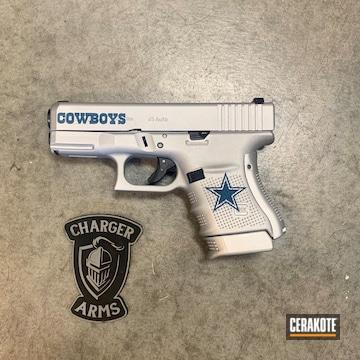 Dallas Cowboys Glock Cerakoted Using Satin Aluminum And Nra Blue