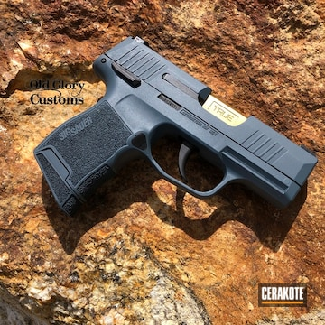 Sig Sauer P365 Cerakoted Using Jesse James Cold War Grey