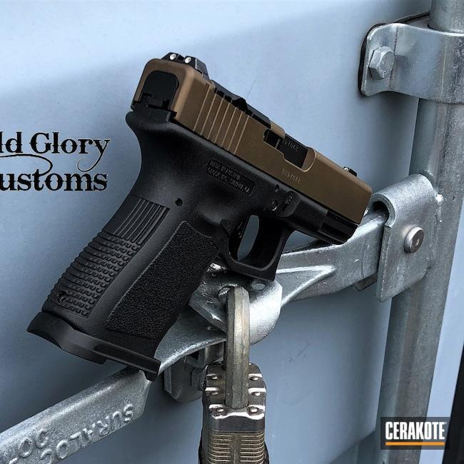 Cerakoted: S.H.O.T,Glock 19,Burnt Bronze H-148,Glock,Slide Cut,RMR Optic,Slide Milling