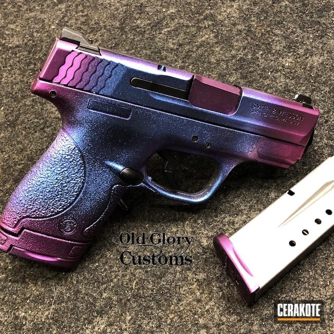 Cerakoted: S.H.O.T,Gloss Black H-109,HIGH GLOSS CERAMIC CLEAR MC-160,Smith & Wesson,Custom Blend,GunCandy,M&P Shield,Color Shift