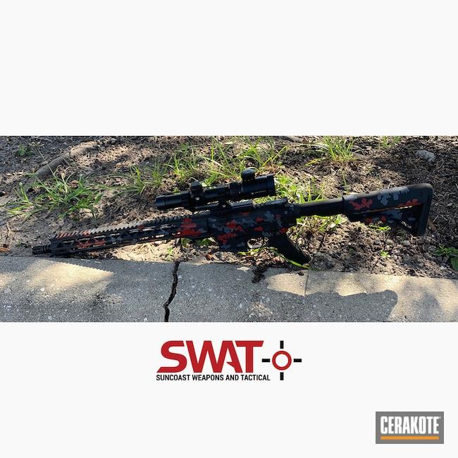 Cerakoted: S.H.O.T,G215,MultiCam,Graphite Black H-146,Crimson H-221,Tactical Rifle,GO2Weapons,5.56,MULTICAM® DARK GREY H-345,AR-15
