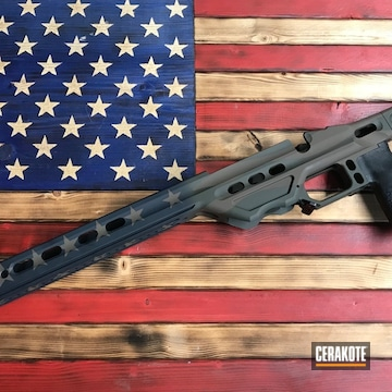 Mpa Chassis Cerakoted Using Magpul® Stealth Grey, Magpul® O.d. Green And Chocolate Brown