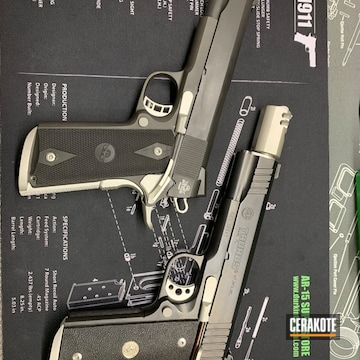 Taurus 1911's Cerakoted Using Shimmer Aluminum