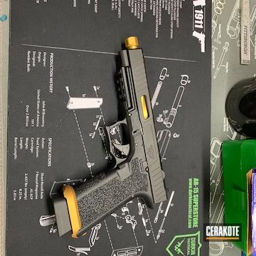 Glock 34 Cerakoted Using Gold