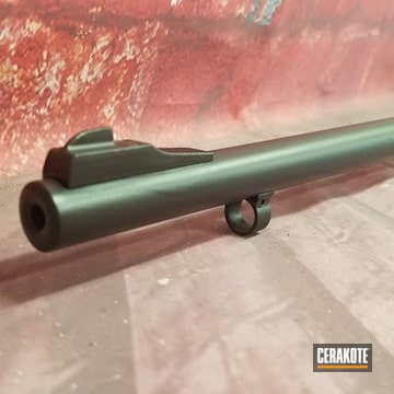 Marlin Rifle Barrel Cerakoted Using Graphite Black