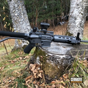 Bushmaster Xm-15 Cerakoted Using Graphite Black