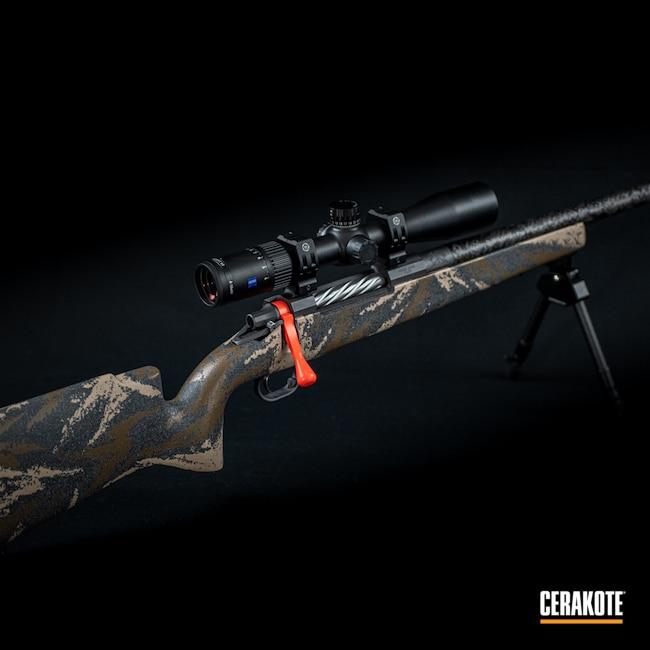 Cerakoted: S.H.O.T,Custom Rifle,Hunter Orange,Hunter Orange H-128,Cobalt H-112,28 Nosler