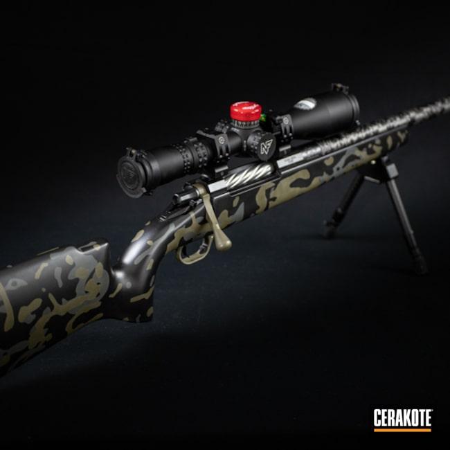 Nosler Bolt Action Rifle Cerakoted Using Cobalt Kinetics™ Green, Tactical Grey And Graphite Black