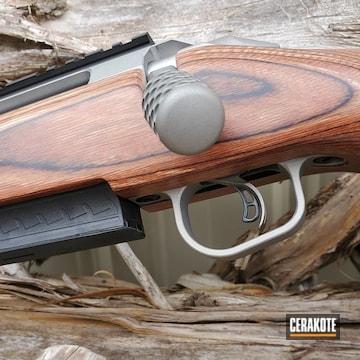 Ruger Bolt Action Rifle Cerakoted Using Titanium And Graphite Black