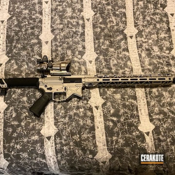 Battle Arms Development Ar Build Cerakoted Using Satin Mag And Gold