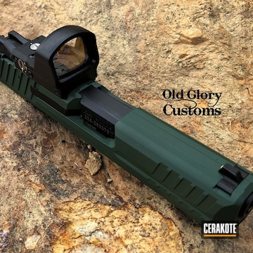 Glock Slide Cerakoted Using Jesse James Eastern Front Green