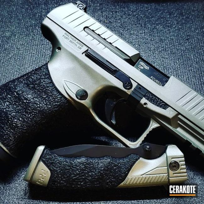 Walther Ppq Cerakoted Using Graphite Black And Sig™ Dark Grey