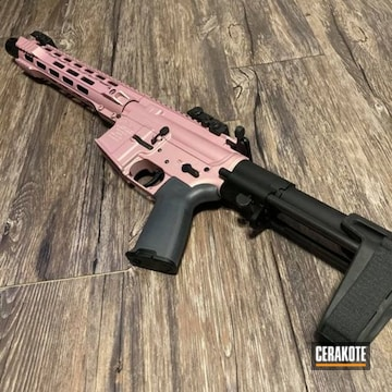 Anderson Ar Build Cerakoted Using Pink Champagne