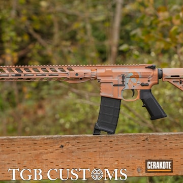 Ar Build Cerakoted Using Robin's Egg Blue And Copper
