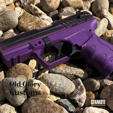 Walther Pk380 Cerakoted Using Wild Purple