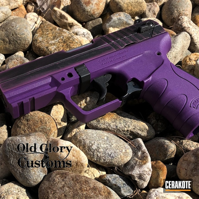 Cerakoted: S.H.O.T,Walther,Distressed,Wild Purple H-197,PK380