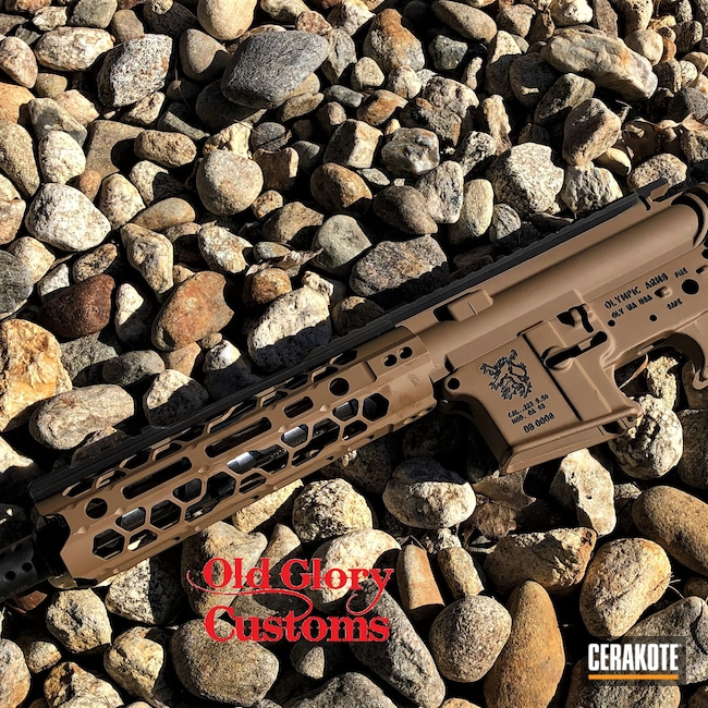 Cerakoted: S.H.O.T,Olympic,Graphite Black H-146,Gun Parts,Matte Brown H-7504M,Odinworks,AR-15