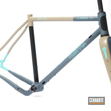 Rodeo Labs Flaanimal Bike Frame And Forks Cerakoted Using Mcmillan® Tan And Northern Lights