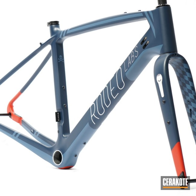 Rodeo Labs Trail Donkey Frame And Forks Cerakoted Using Kel-tec® Navy Blue, Stormtrooper White And Usmc Red