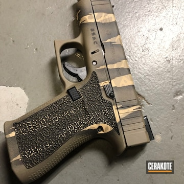 Glock 48 Cerakoted Using Coyote Tan, Graphite Black And Magpul® Flat Dark Earth