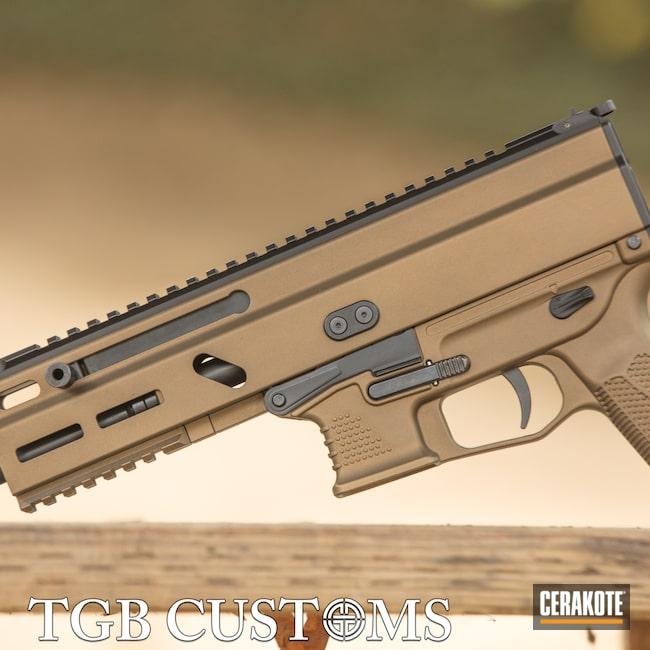 Cerakoted: S.H.O.T,9mm,Grand Power,Burnt Bronze H-148,Armor Black H-190,SP9A1,Stribog