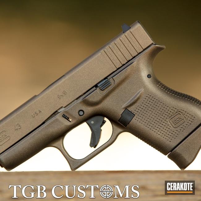 Cerakoted: S.H.O.T,9mm,McLaren,BLACKOUT E-100,Glock,Color Match,Glock 43,GunCandy