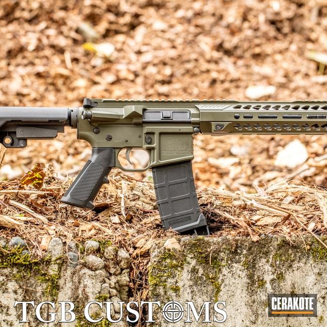 Cerakoted: S.H.O.T,AR Pistol,AR Custom Build,Mil Spec O.D. Green H-240,5.56,AR-15