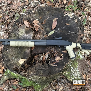 Mossberg 590a1 Cerakoted Using Multicam® Pale Green