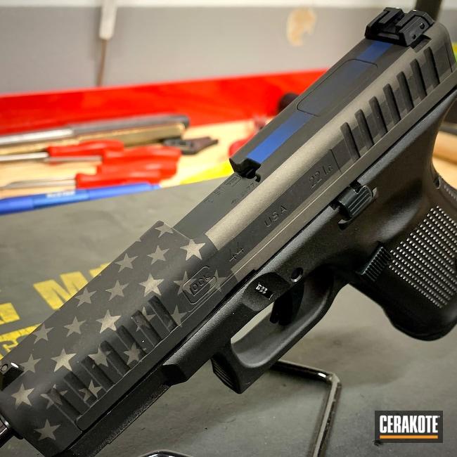Cerakoted: S.H.O.T,Glock 44,Thin Blue Line,NRA Blue H-171,Distressed,Gen II Graphite Black HIR-146,Distressed American Flag,Tungsten H-237,American Flag,Glock,22lr,.22
