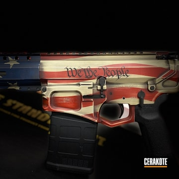 Diamondback Firearms Cerakoted Using Kel-tec® Navy Blue, Crimson And Benelli® Sand