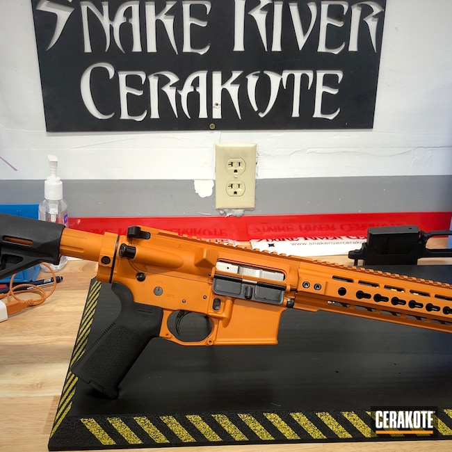 Cerakoted: TEQUILA SUNRISE H-309,S.H.O.T,Graphite Black H-146,.223,Primary Weapons Systems,.223 Wylde,PWS,5.56,src,AR-15