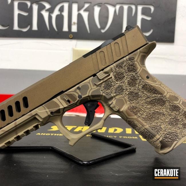 Glock 19x Cerakoted Sing Patriot Brown, Desert Sand And Desert Verde