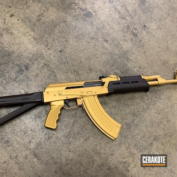 Ak-47 Cerakoted Using Gold