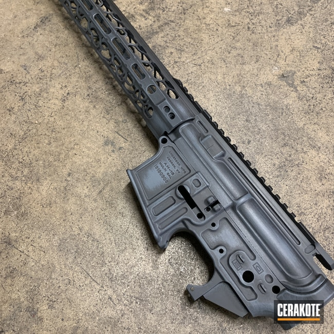 Cerakoted: S.H.O.T,Anderson,Armor Black H-190,5.56,AR Build,MULTICAM® DARK GREY H-345