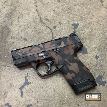 M&p 9 Shield Cerakoted Using Multicam® Dark Brown, Magpul® Fde And Gen Ii Graphite Black