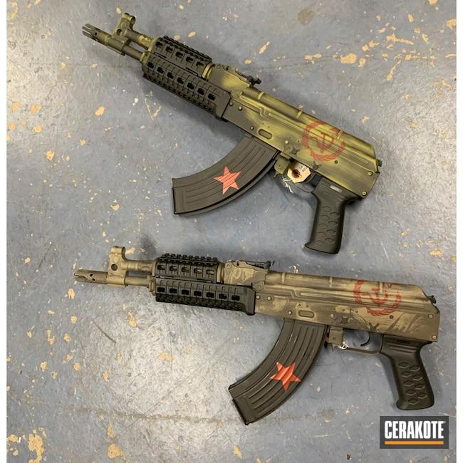 Cerakoted: S.H.O.T,Crimson H-221,MAGPUL® FDE C-267,Armor Black H-190