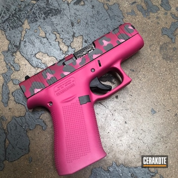 Pink Multicam Glock 43x Cerakoted Using Bazooka Pink, Sig™ Pink And Tactical Grey