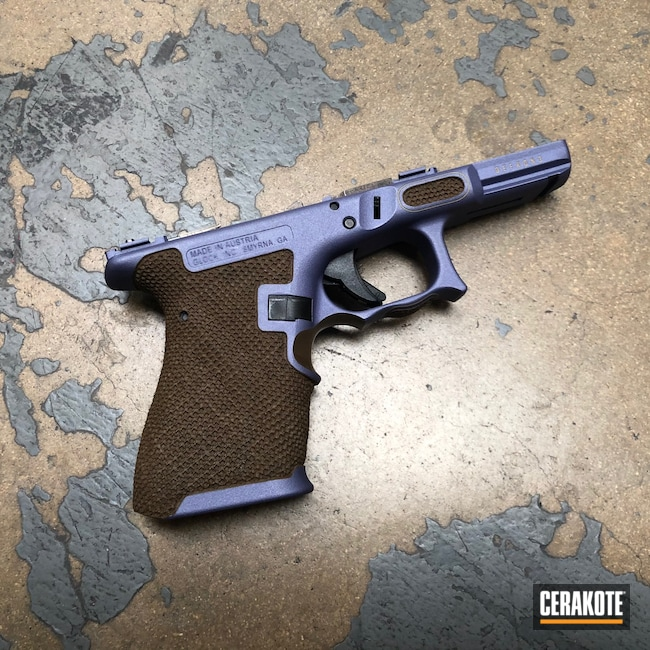 Cerakoted: S.H.O.T,Custom Glock Frame,Two Tone,Glock,Hand Stippled,PB&J,CRUSHED ORCHID H-314,Glock Frame,Defkon3