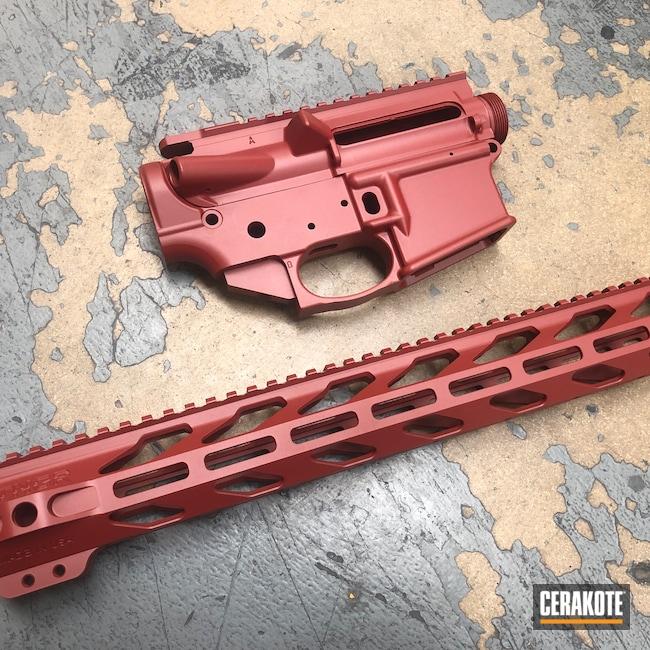 Cerakoted: S.H.O.T,Anderson Mfg.,Upper / Lower / Handguard,Crimson H-221,AR-15