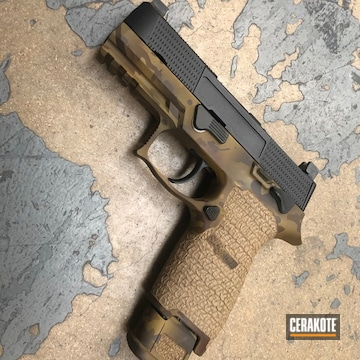 Custom Multicam Sig Sauer Cerakoted Using Patriot Brown, Chocolate Brown And Ral 8000
