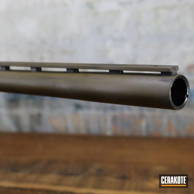 Cerakoted: Shotgun,Graphite Black H-146,M17 COYOTE TAN E-170,A.I. Dark Earth H-250