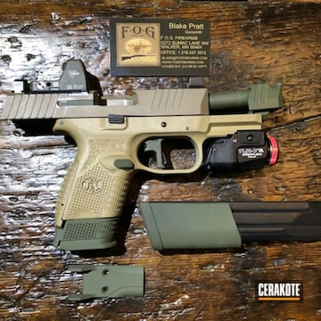 Fn 509 Cerakoted Using Mil Spec O.d. Green