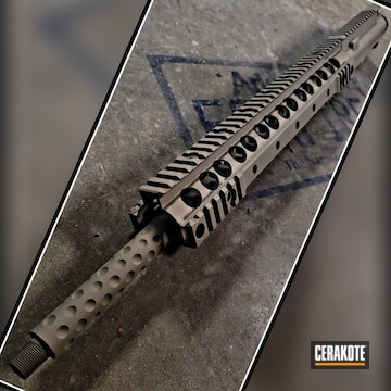 Knight Armament Handguard And Barrel Cerakoted Using Magpul® Flat Dark Earth