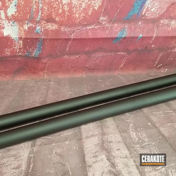Rifle Barrel Cerakoted Using Graphite Black